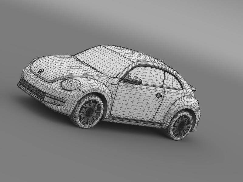 vw i beetle 2015 3d model 3ds max fbx c4d lwo ma mb hrc xsi obj 153292