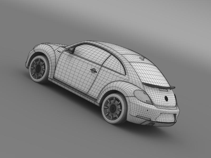 vw i beetle 2015 3d model 3ds max fbx c4d lwo ma mb hrc xsi obj 153294