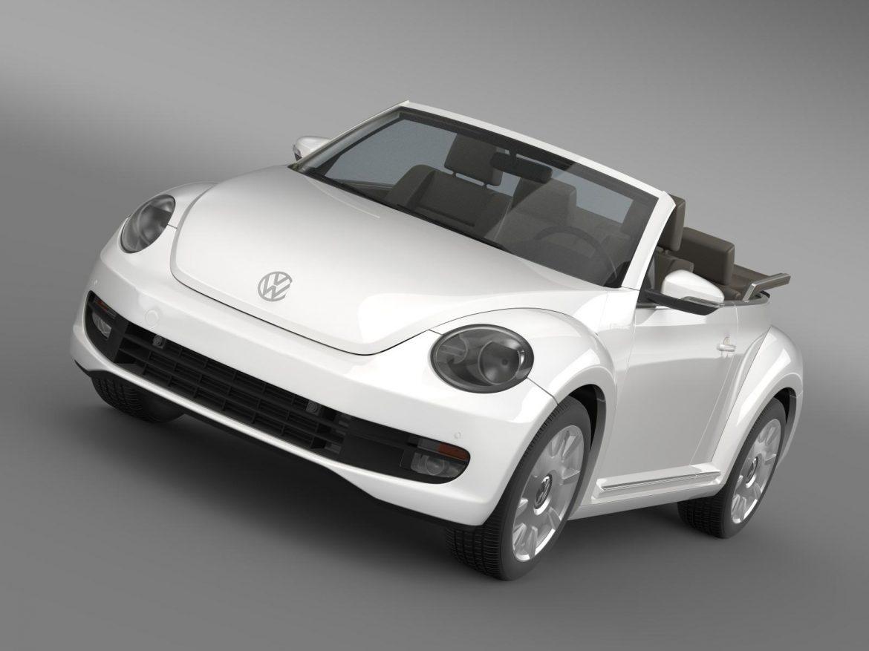 vw i beetle cabrio 2015 3d model 3ds max fbx c4d lwo ma mb hrc xsi obj 152756