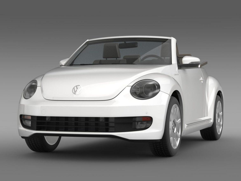 vw i beetle cabrio 2015 3d model 3ds max fbx c4d lwo ma mb hrc xsi obj 152757