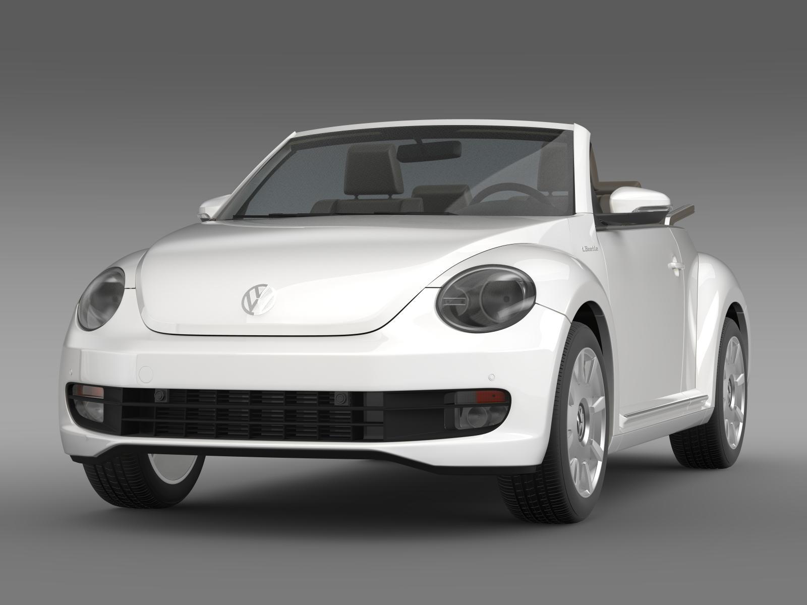 vw i beetle cabrio 2015 3d model. Black Bedroom Furniture Sets. Home Design Ideas