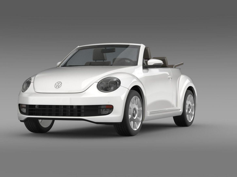 vw i beetle cabrio 2015 3d model 3ds max fbx c4d lwo ma mb hrc xsi obj 152758