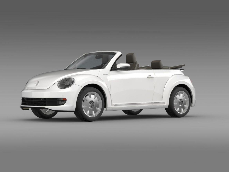 vw i beetle cabrio 2015 3d model 3ds max fbx c4d lwo ma mb hrc xsi obj 152759