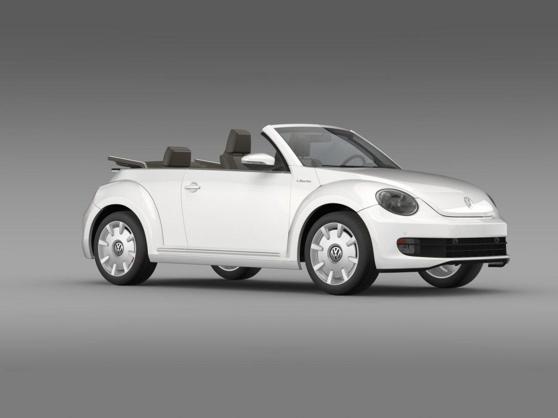 vw i beetle cabrio 2015 3d model 3ds max fbx c4d lwo ma mb hrc xsi obj 152767