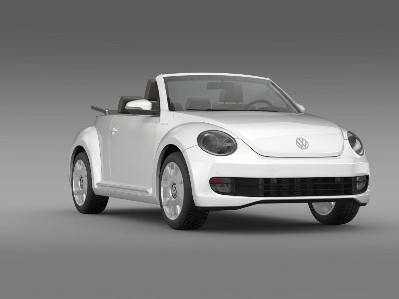 vw i beetle cabrio 2015 3d model 3ds max fbx c4d lwo ma mb hrc xsi obj 152768