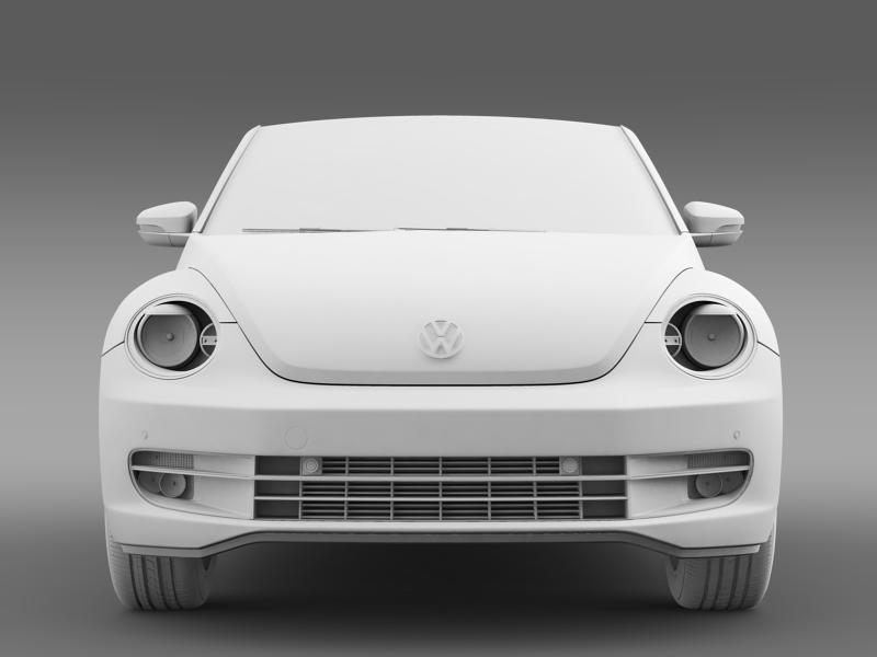 vw i beetle cabrio 2015 3d model 3ds max fbx c4d lwo ma mb hrc xsi obj 152770