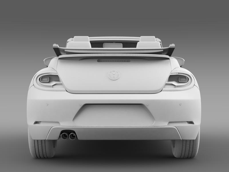 vw i beetle cabrio 2015 3d model 3ds max fbx c4d lwo ma mb hrc xsi obj 152771