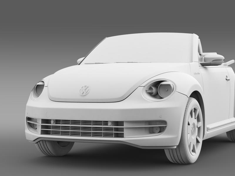 vw i beetle cabrio 2015 3d model 3ds max fbx c4d lwo ma mb hrc xsi obj 152772
