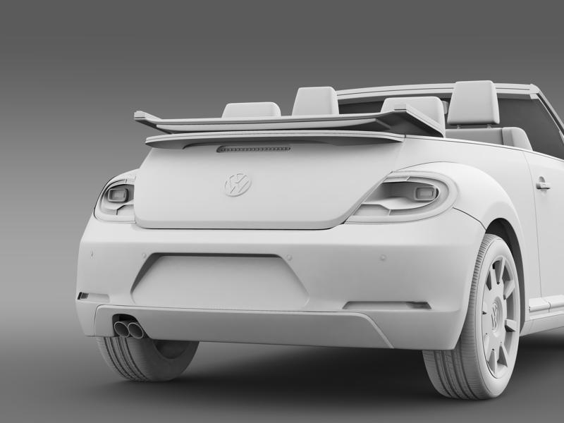 vw i beetle cabrio 2015 3d model 3ds max fbx c4d lwo ma mb hrc xsi obj 152773