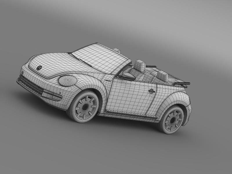 vw i beetle cabrio 2015 3d model 3ds max fbx c4d lwo ma mb hrc xsi obj 152774
