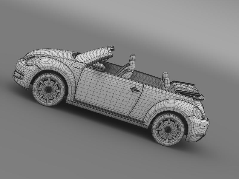 vw i beetle cabrio 2015 3d model 3ds max fbx c4d lwo ma mb hrc xsi obj 152775