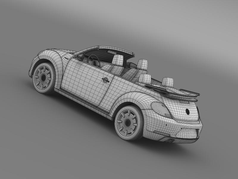 vw i beetle cabrio 2015 3d model 3ds max fbx c4d lwo ma mb hrc xsi obj 152776