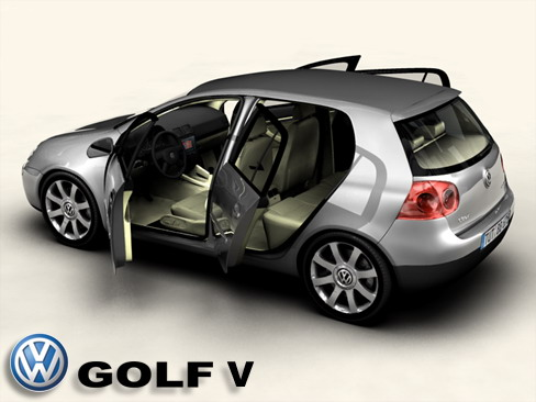 vw golf v 3d model buy vw golf v 3d model flatpyramid. Black Bedroom Furniture Sets. Home Design Ideas