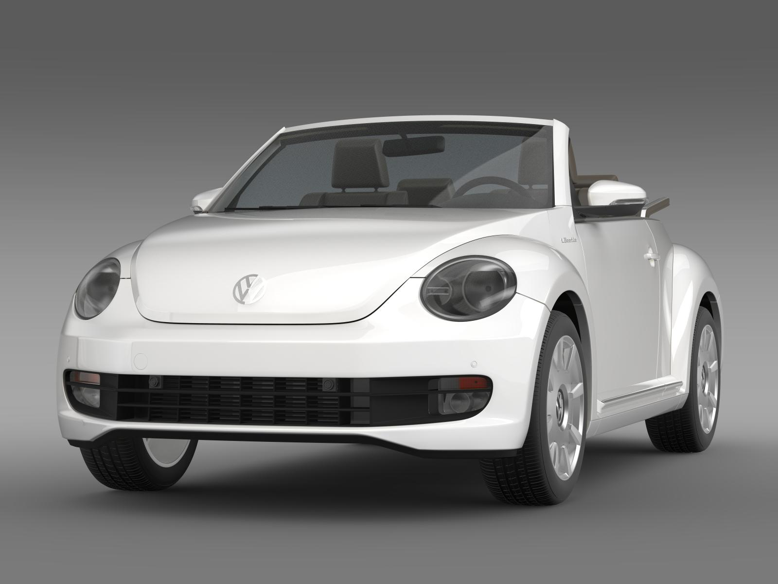 vw i beetle cabrio 2015 3d model flatpyramid. Black Bedroom Furniture Sets. Home Design Ideas