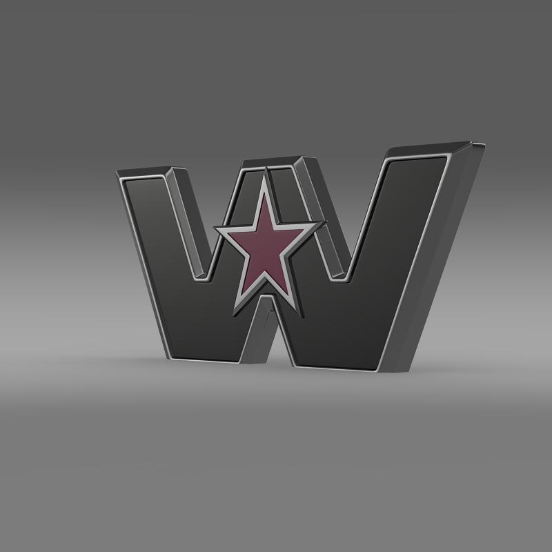 western star logo 3d model 3ds max fbx c4d lwo ma mb hrc xsi obj 134224