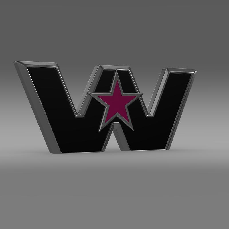 Zapadna zvijezda logo 3d model 3ds max fbx c4d lwo ma mb hrc xsi obj 134226