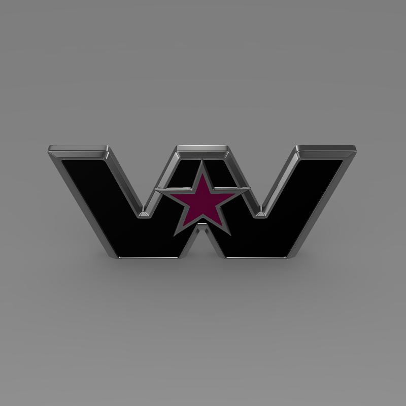 Zapadna zvijezda logo 3d model 3ds max fbx c4d lwo ma mb hrc xsi obj 134228