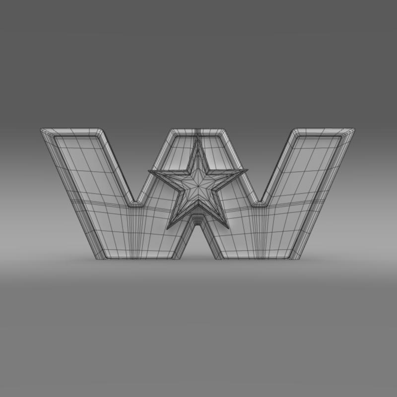 Zapadna zvijezda logo 3d model 3ds max fbx c4d lwo ma mb hrc xsi obj 134230