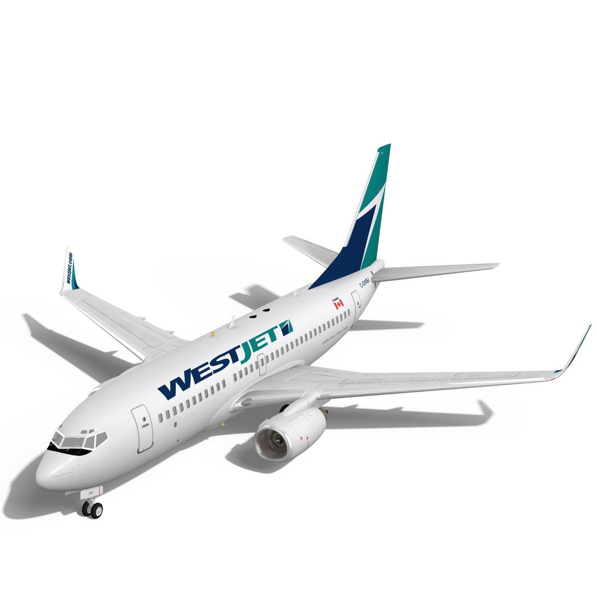 westjet boeing 737-700w 3d model max fbx c4d ma mb obj