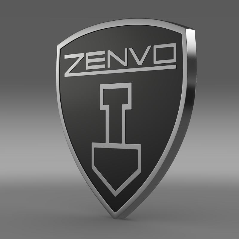 zenvo logo 3d model 3ds max fbx c4d lwo ma mb hrc xsi obj 153009