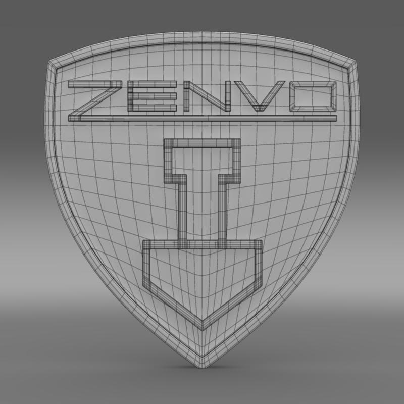 zenvo logo 3d modelis 3ds max fbx c4d lwo ma mb hrc xsi obj 153015