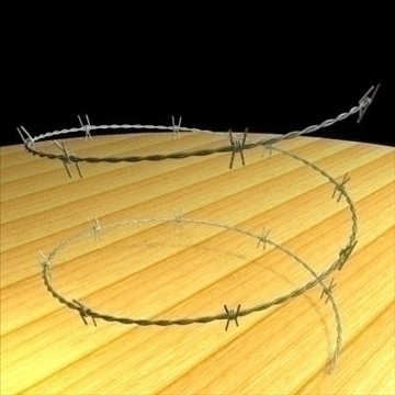 barbed wire sections 3d model 3ds dxf other obj 89785