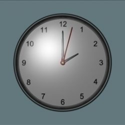 Wall mounted clock ( 26.48KB jpg by Shembol_Studio )