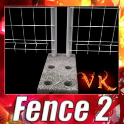 3D Model Fence 02 - High Detailed ( 111.77KB jpg by VKModels )