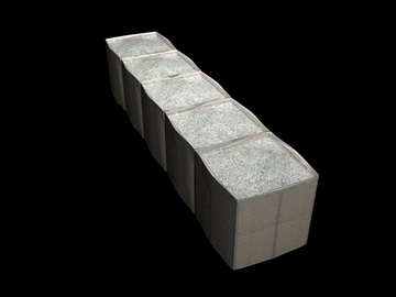 5 section hesco bastion 3d model 3ds 92943