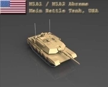 m1a1 m1a2 abrams main battle tank usa 3d model 3ds max x lwo ma mb obj 101244