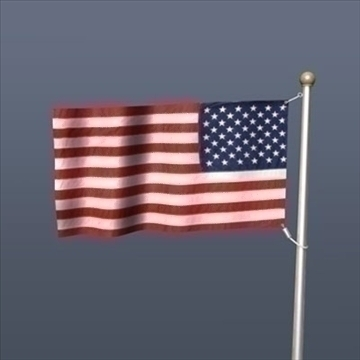 old glory united states flag 3d model 3ds dxf fbx c4d obj 82693
