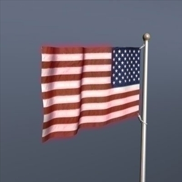 old glory united states flag 3d model 3ds dxf fbx c4d obj 82694