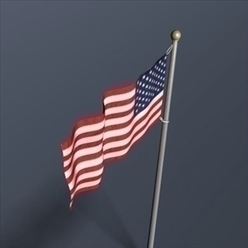 old glory united states flag 3d model 3ds dxf fbx c4d obj 82695