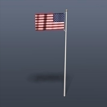 old glory united states flag 3d model 3ds dxf fbx c4d obj 82697