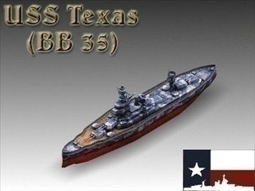 ww2 battleship texas uss bb 35 3d model 3ds max x lwo ma mb obj 111156