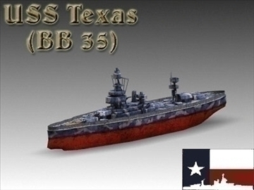 ww2 battleship texas uss bb 35 3d model 3ds max x lwo ma mb obj 111158