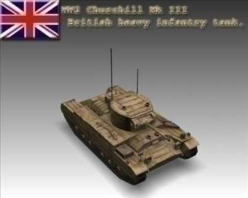 ww2 Churchill mk iii umar coisithe trom 3d model 3ds max x lwo ma mb obj 101560