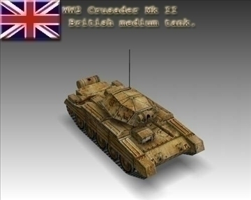 ww2 crusader mk ii british medium tank. 3d model 3ds max x lwo ma mb obj 101565