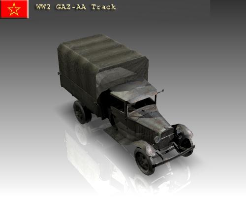 ww2 gaz aa padomju kravas automašīna. 3d modelis 3ds max x lwo ma mb obj 111138
