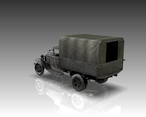 ww2 gaz aa soviet cargo truck. 3d model 3ds max x lwo ma mb obj 111139