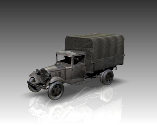 ww2 gaz aa soviet cargo truck. 3d model 3ds max x lwo ma mb obj 111140