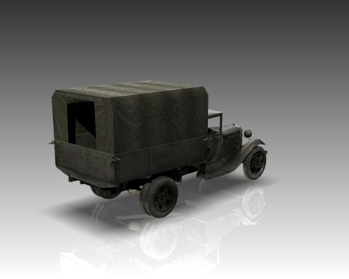 ww2 gaz aa soviet cargo truck. 3d model 3ds max x lwo ma mb obj 111141