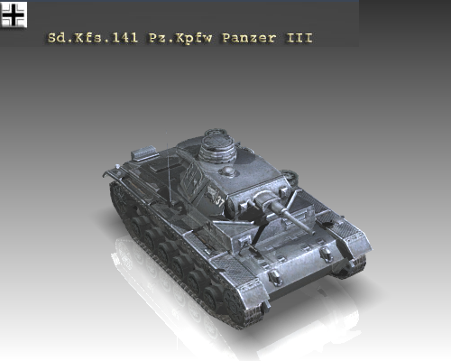 ww2 german medium tank panzer iii 3d model 3ds max x lwo ma mb obj 111120