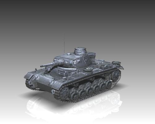 ww2 german medium tank panzer iii 3d model 3ds max x lwo ma mb obj 111121
