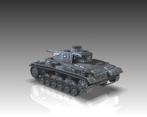 ww2 german medium tank panzer iii 3d model 3ds max x lwo ma mb obj 111122