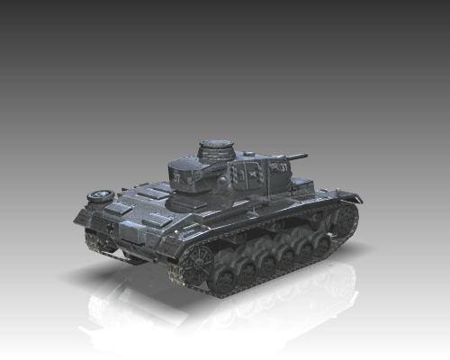 ww2 german medium tank panzer iii 3d model 3ds max x lwo ma mb obj 111123