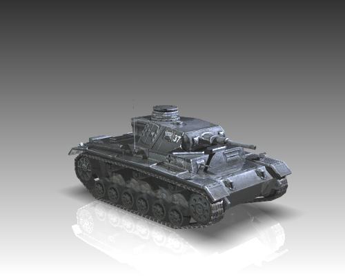ww2 german medium tank panzer iii 3d model 3ds max x lwo ma mb obj 111124