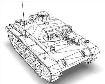ww2 german medium tank panzer iii 3d model 3ds max x lwo ma mb obj 111125