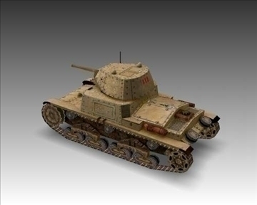 ww2 m13 40 italian medium tank. 3d model 3ds max x lwo ma mb obj 101583