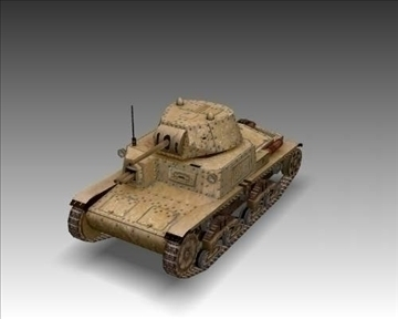 ww2 m13 40 italian medium tank. 3d model 3ds max x lwo ma mb obj 101584